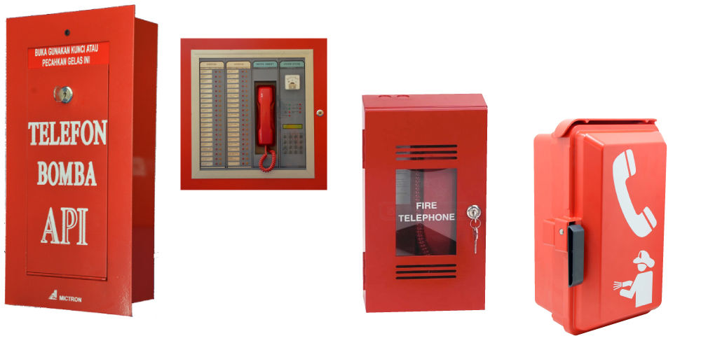 Fireman telephone bomba API, handsets, remote intercom station