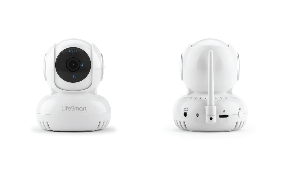 Smart surveillance WIFI camera front & back view