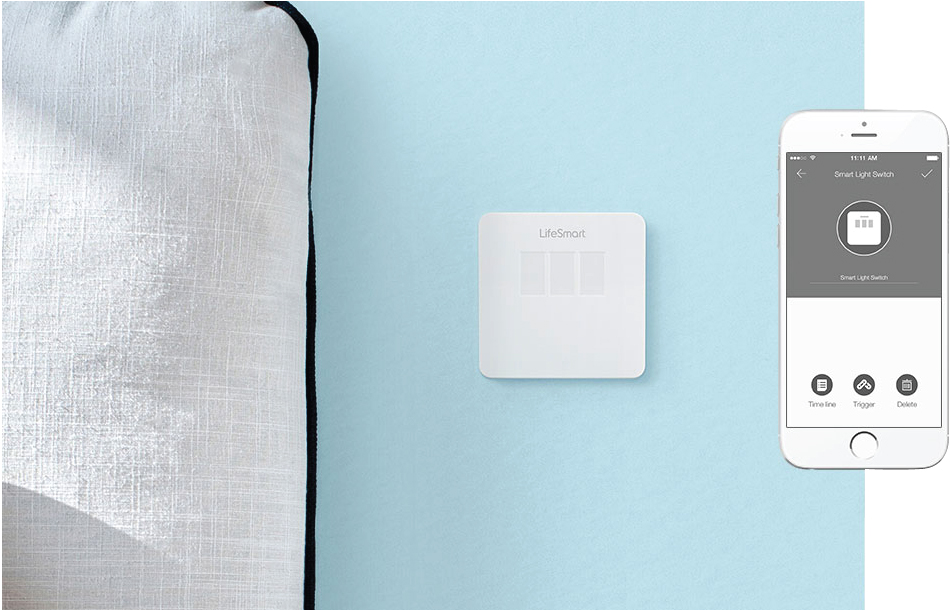 Touch screen control smart home light switch