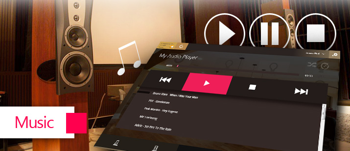 VHOME Smart Home cloud music sharing system