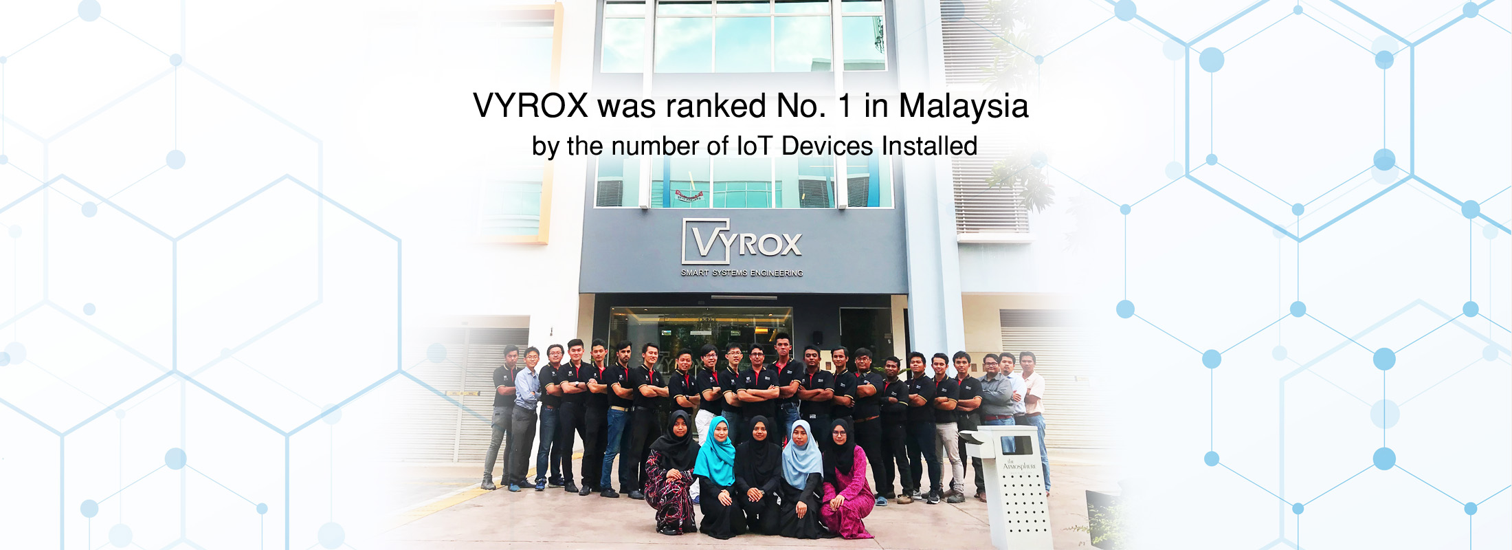 VYROX was ranked No. 1 in Malaysia by the number of IoT Devices Installed