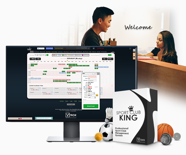Smart Club House Sportclub King System to manage your businesses