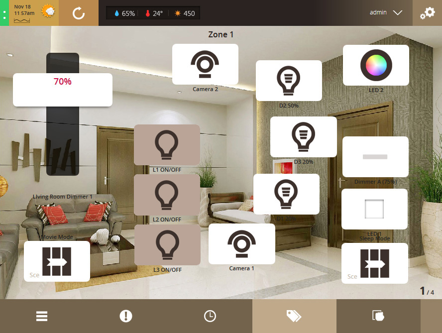 VHOME Smart Home front-end interface