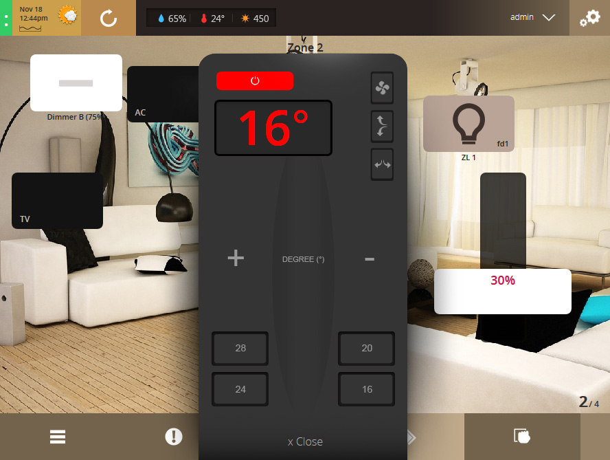 VHOME Smart Home remote control air-conditioners temperature
