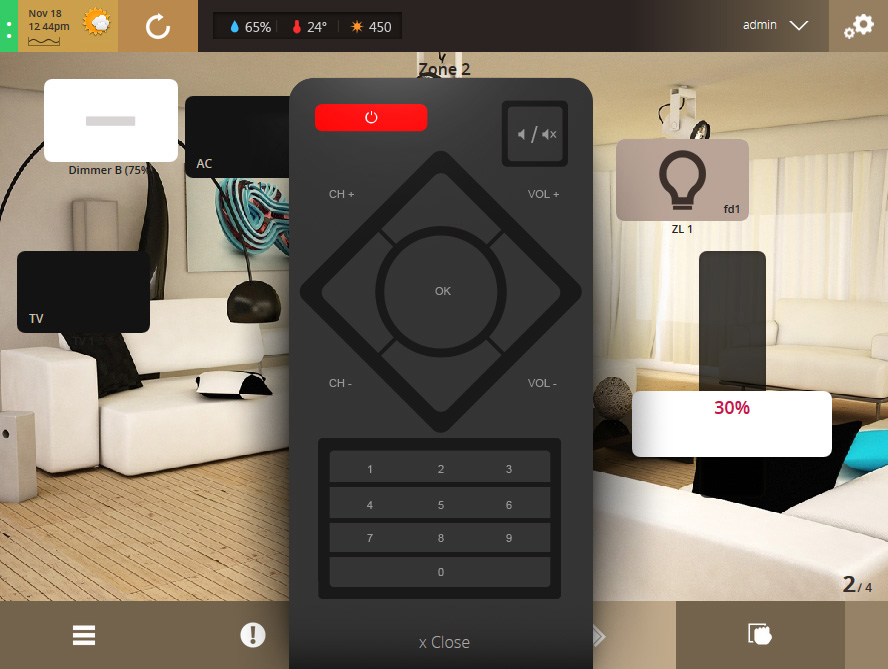 VHOME Smart Home remote control TV
